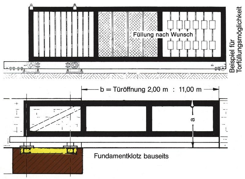 Freitragende Hofschiebetore: Maschinenbau Jung